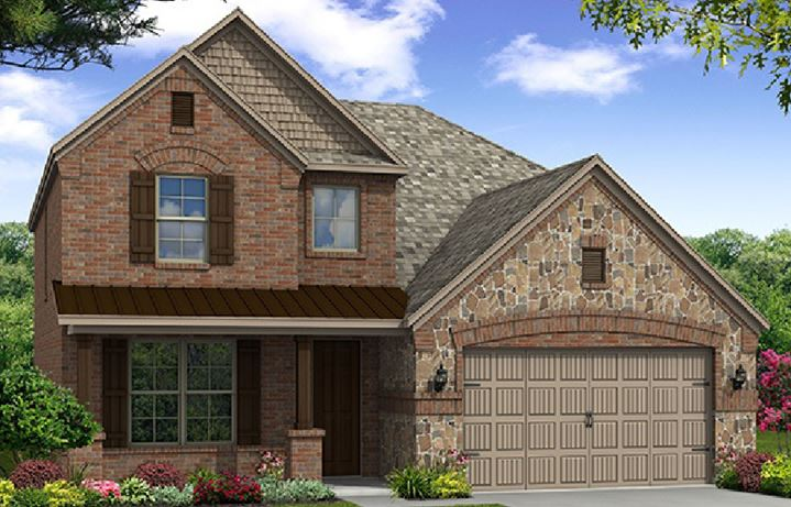 Canyon Falls Beazer Homes Brookhaven Elevation FCO