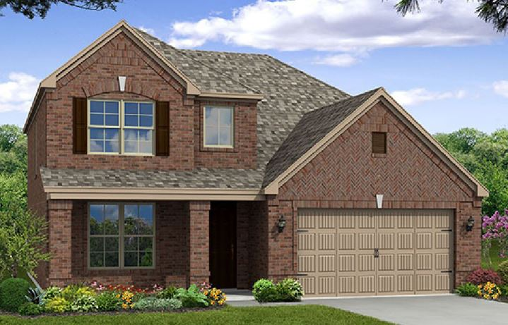 Canyon Falls Beazer Homes Brookhaven Elevation TRO