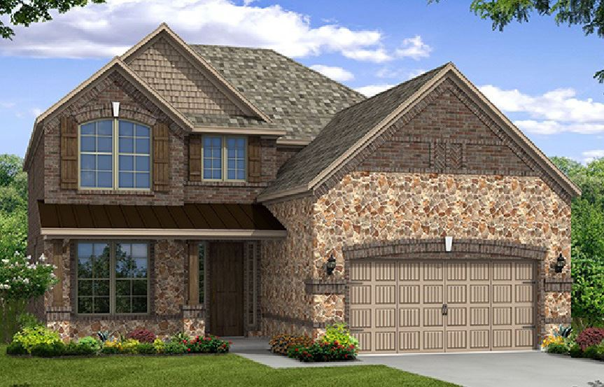 Canyon Falls Beazer Homes Aberdeen Elevation FCN
