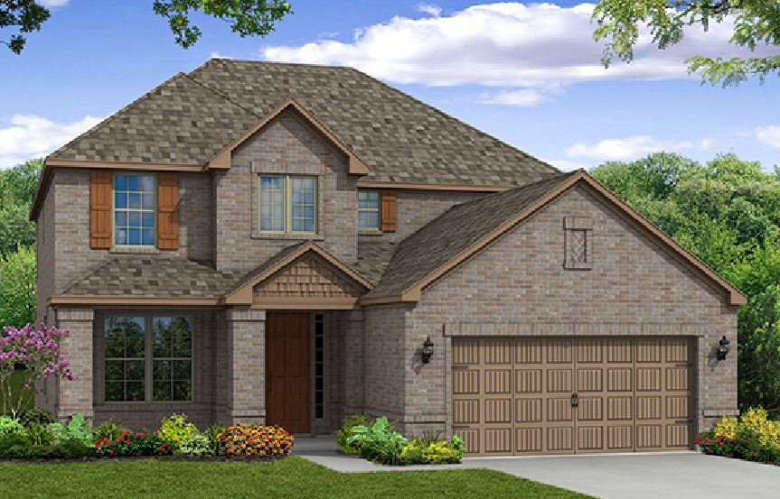 Canyon Falls Beazer Homes Aberdeen Elevation TRL