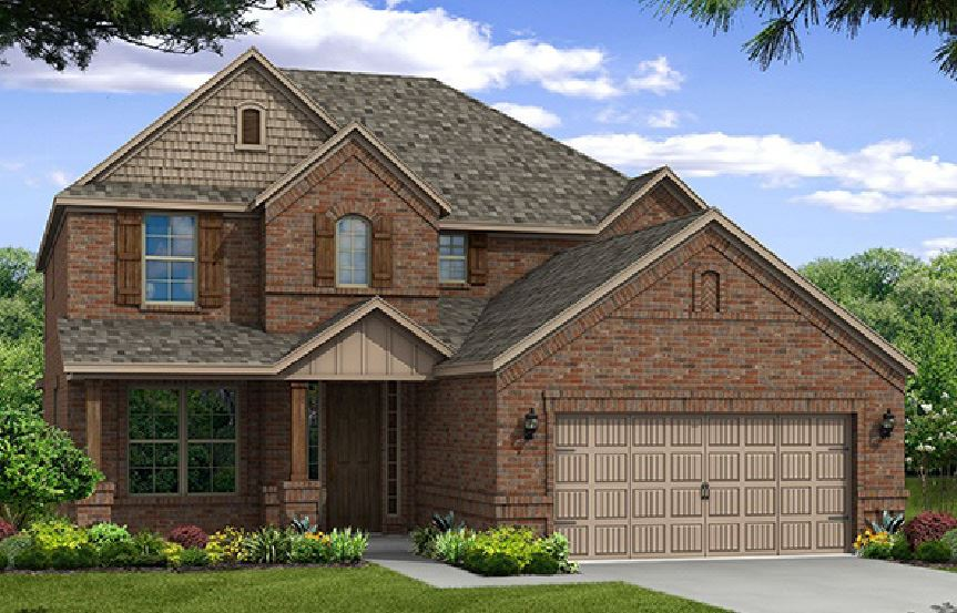 Canyon Falls Beazer Homes Aberdeen Elevation TRN