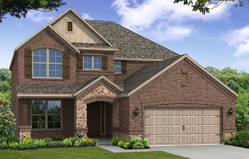 Canyon Falls Beazer Homes Aberdeen Elevation TRO