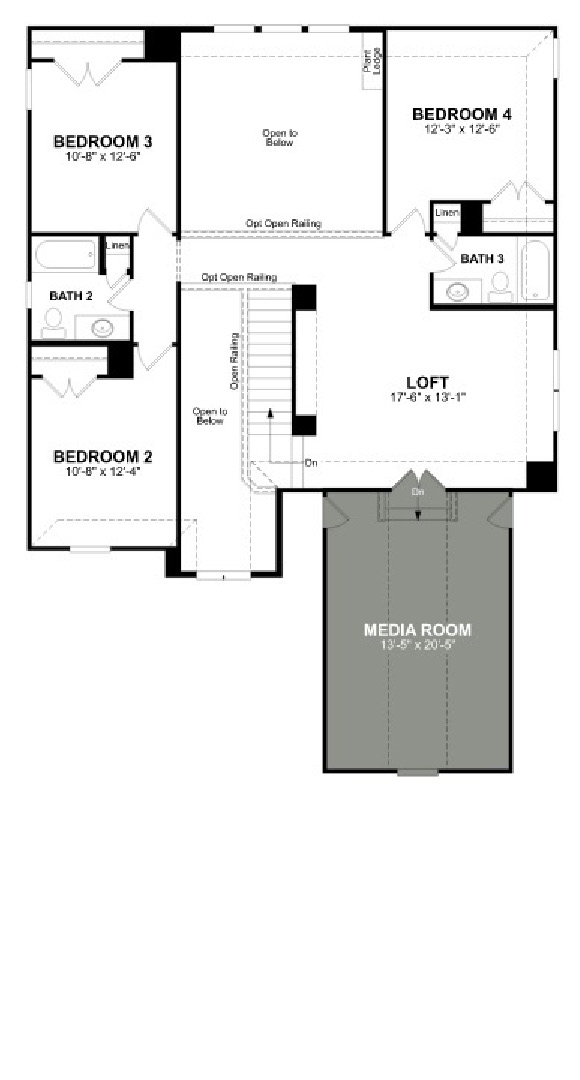 Canyon Falls Beazer Homes Aberdeen Floor Plan
