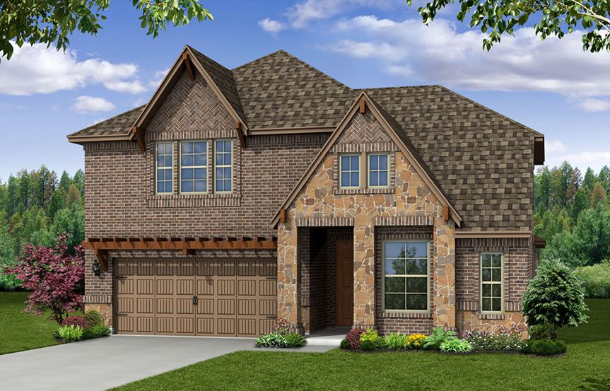 Canyon Falls Beazer Homes Summerfield Elevation FCL