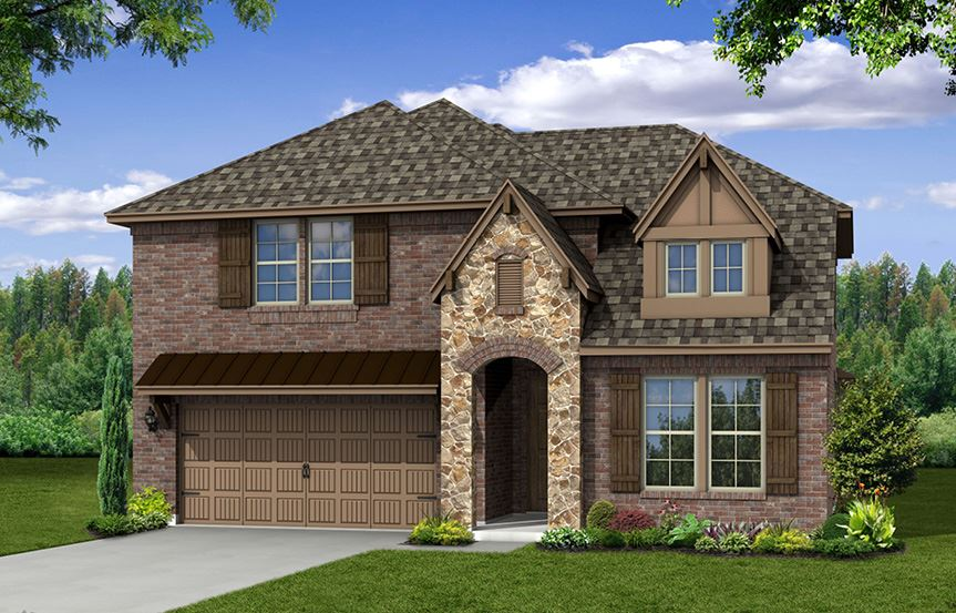 Canyon Falls Beazer Homes Summerfield Elevation TRL