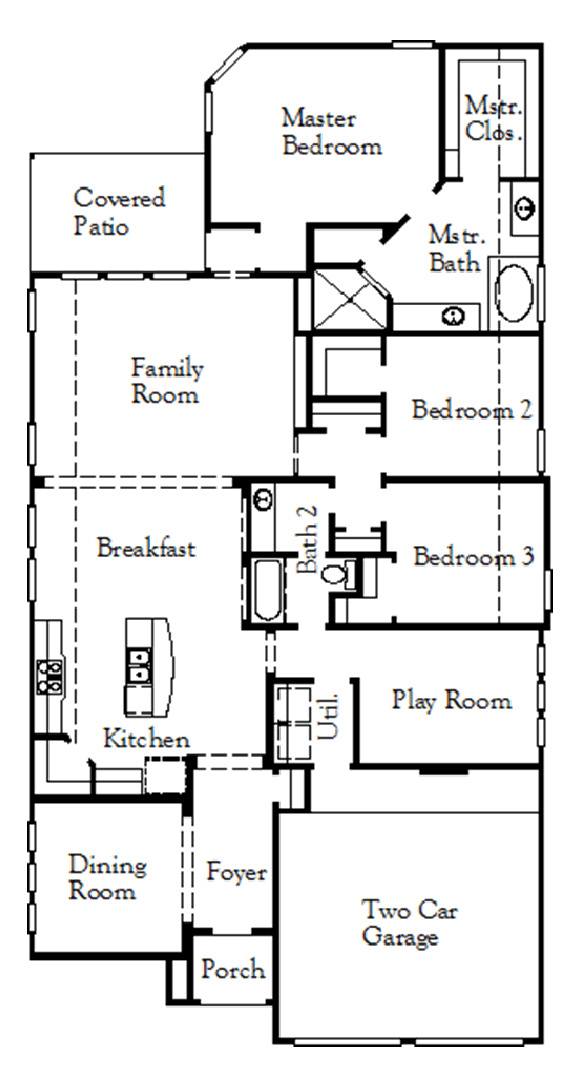 Canyon Falls Coventry Homes Plan 2153 Floor Plan