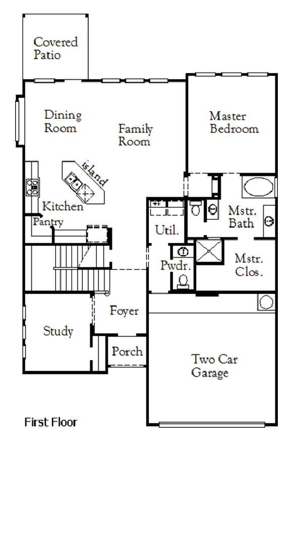 Canyon Falls Coventry Homes Plan 2587 Floor Plan