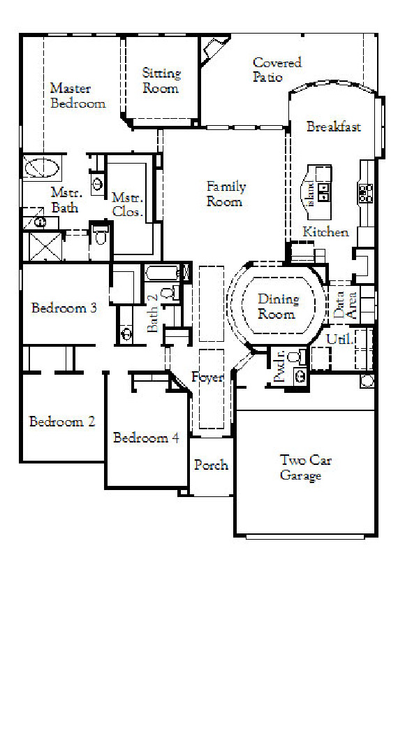 Canyon Falls Coventry Homes Plan 2541 Floor Plan
