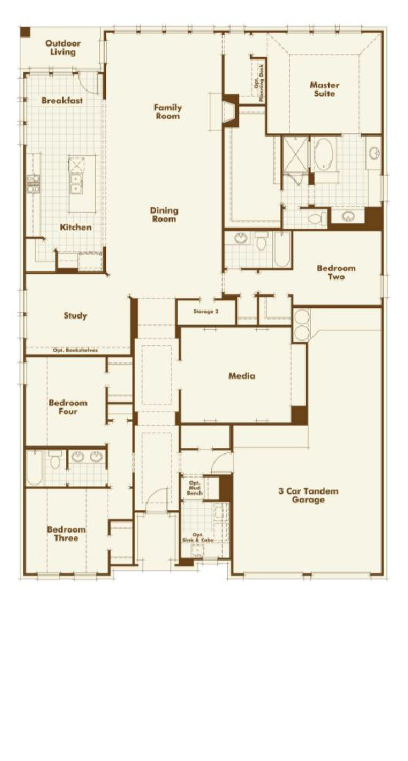 Canyon Falls Highland Homes Plan 242 Floor Plan
