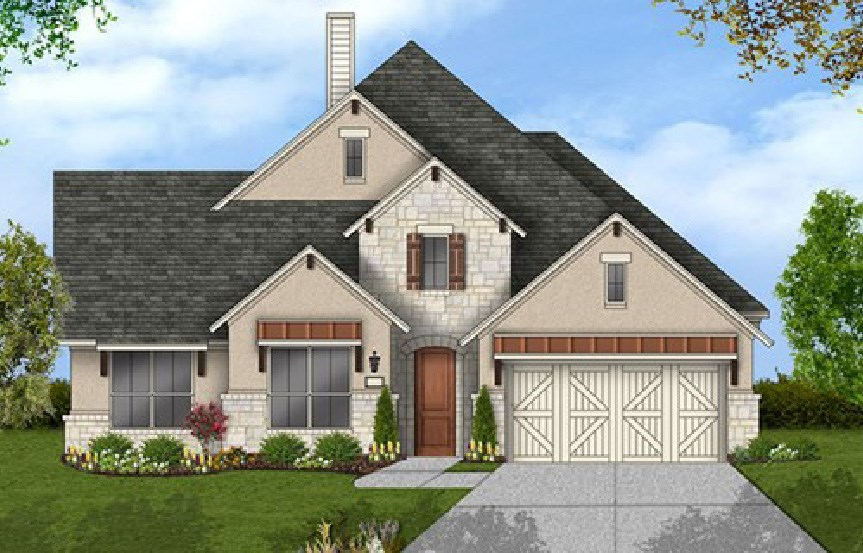 Canyon Falls Coventry Homes Plan 2884 Elevation F