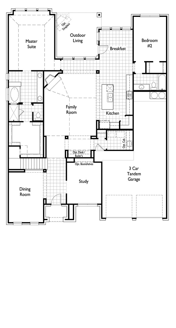 Canyon Falls Highland Homes Plan 245 Floor Plan