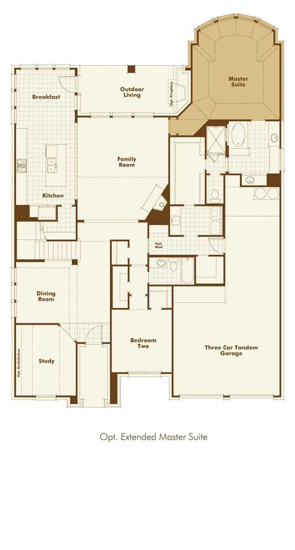 Canyon Falls Highland Homes Plan 244 Floor