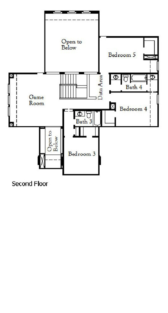 Canyon Falls Coventry Homes Plan 3630 Elevation Floor Plan