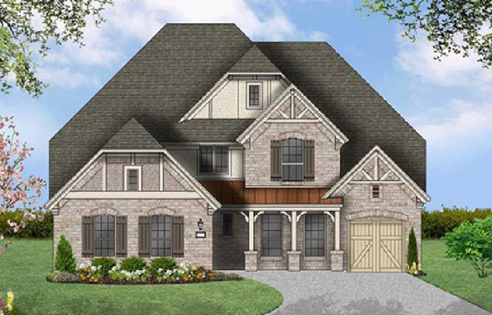 Canyon Falls Coventry Homes Plan 3767 Elevation E