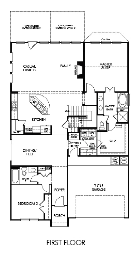 Canyon Falls Meritage Homes Silver Maple Floor Plan