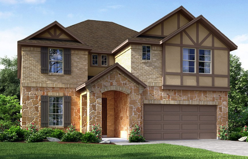 Canyon Falls Meritage Homes Cedar Elevation D