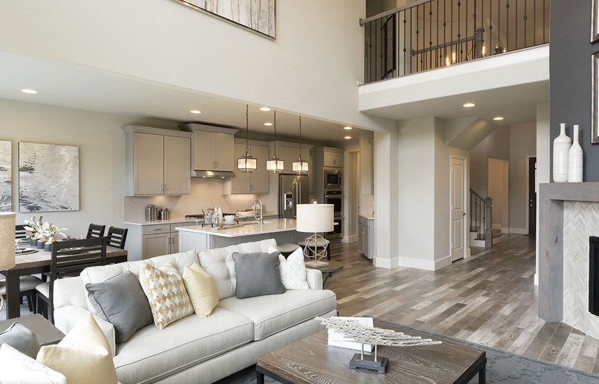 Canyon Falls Meritage Homes Cedar Family Room