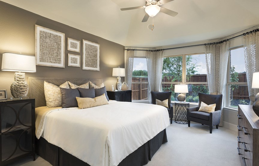 Canyon Falls Meritage Homes Cedar Master Bedroom