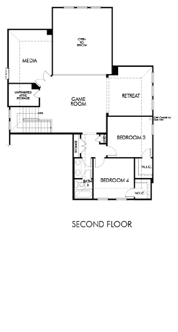 Canyon Falls Meritage Homes Hickory Floor Plan