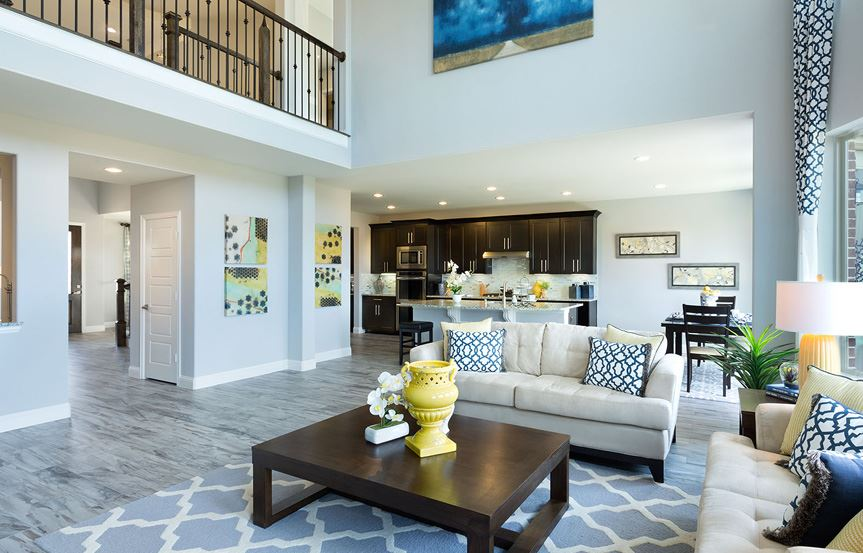 Canyon Falls Meritage Homes Berkeley Family Room