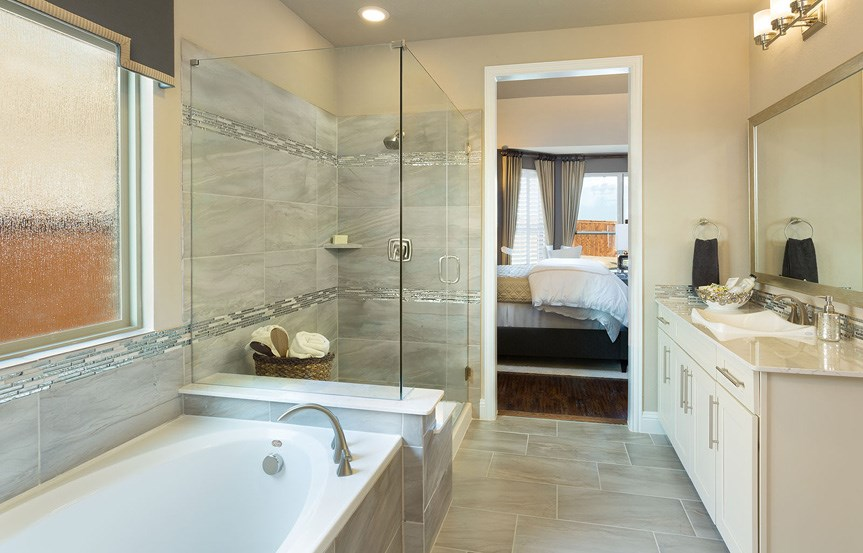 Canyon Falls Meritage Homes Copperleaf Master Bath