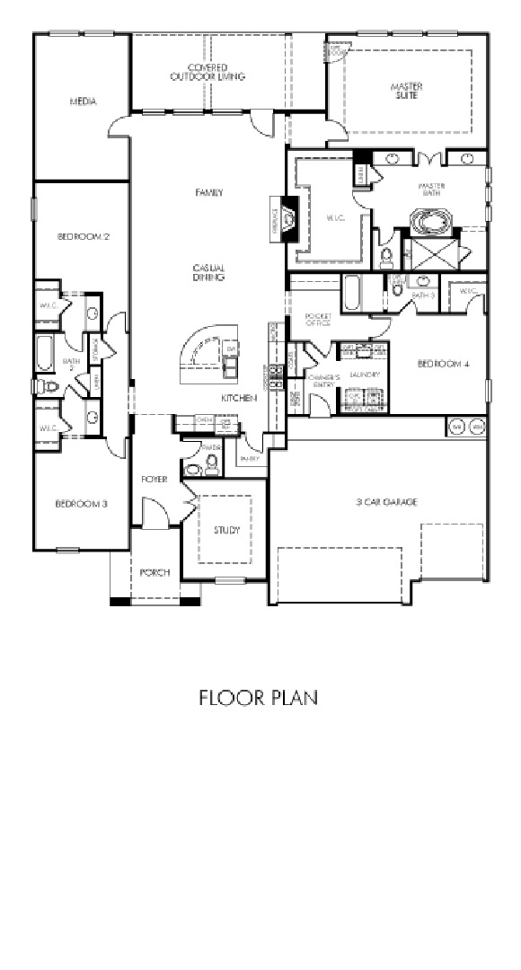 Canyon Falls Meritage Homes Sydney Floor Plan