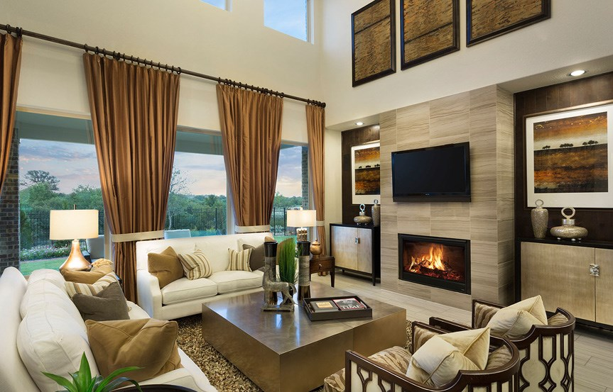 Canyon Falls Meritage Homes Rome Family Room