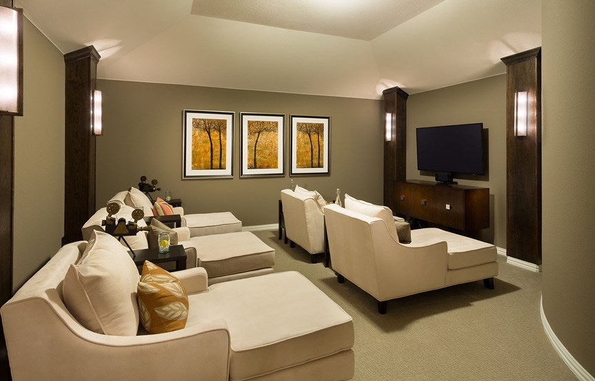Canyon Falls Meritage Homes Rome Media Room