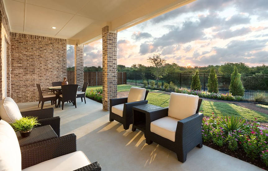 Canyon Falls Meritage Homes Rome Extended Patio