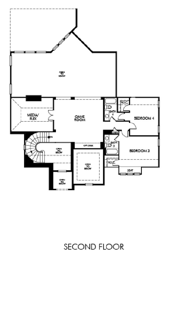 Meritage Homes Floor Plans   Meritage Florence Meridian Collection
