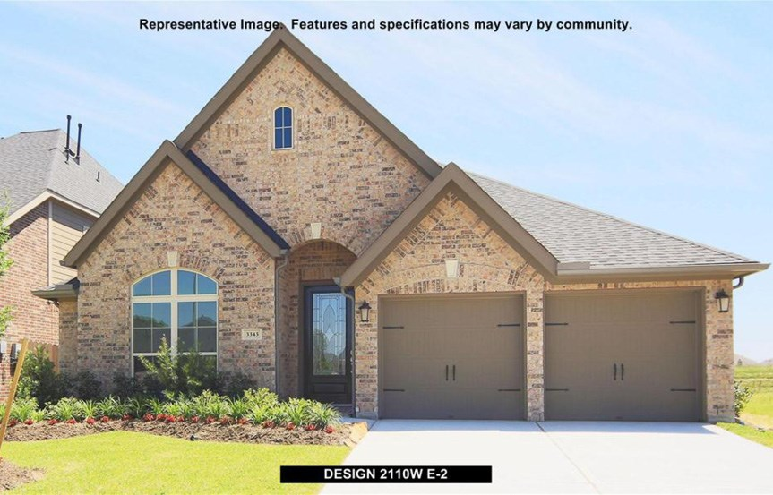 Canyon Falls Perry Homes Design 2110w Elevation E-2