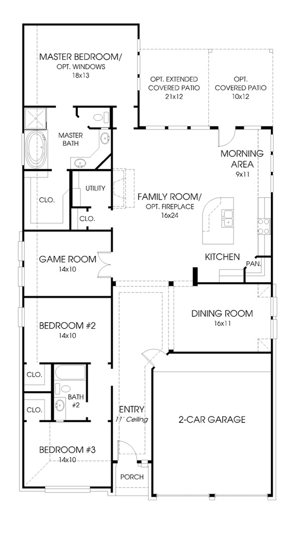 Canyon Falls Perry Homes Design 2110w Floor Plan