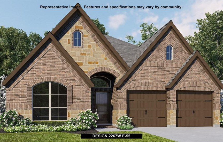 Canyon Falls Perry Homes Design 2267w Elevation E-55