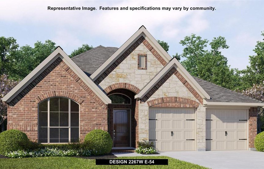 Canyon Falls Perry Homes Design 2267w Elevation E-54