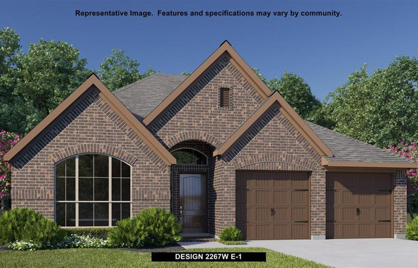 Canyon Falls Perry Homes Design 2267w Elevation E-1