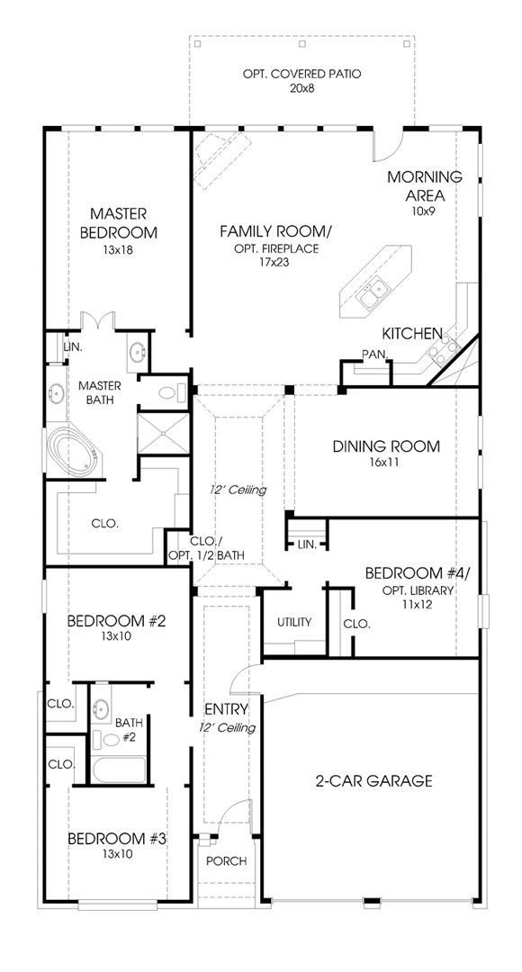 Canyon Falls Perry Homes Design 2267w Floor Plan