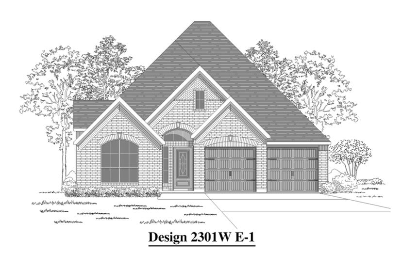 Canyon Falls Perry Homes Design 2301w Elevation E-1