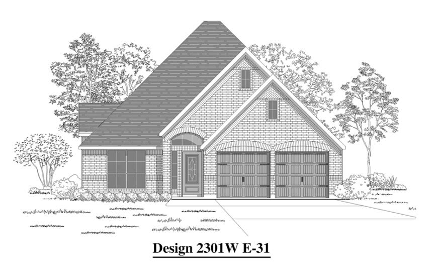 Canyon Falls Perry Homes Design 2301w Elevation E-31