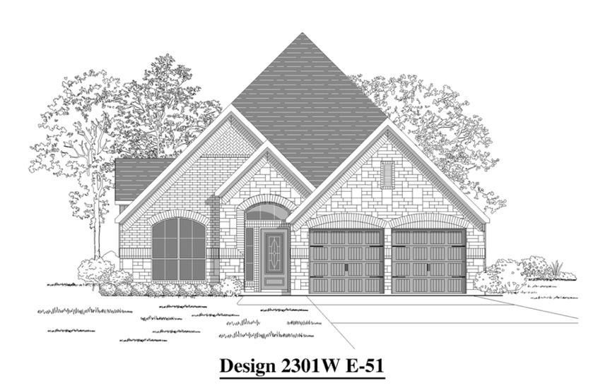Canyon Falls Perry Homes Design 2301w Elevation E-51