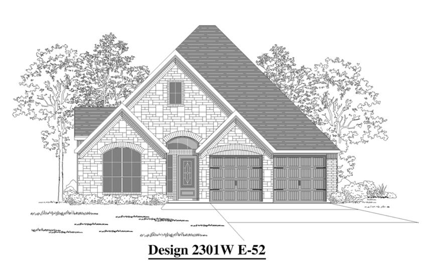 Canyon Falls Perry Homes Design 2301w Elevation E-52