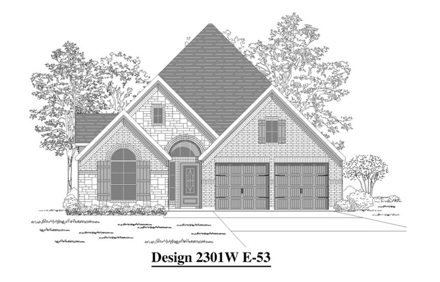 Canyon Falls Perry Homes Design 2301w Elevation E-53