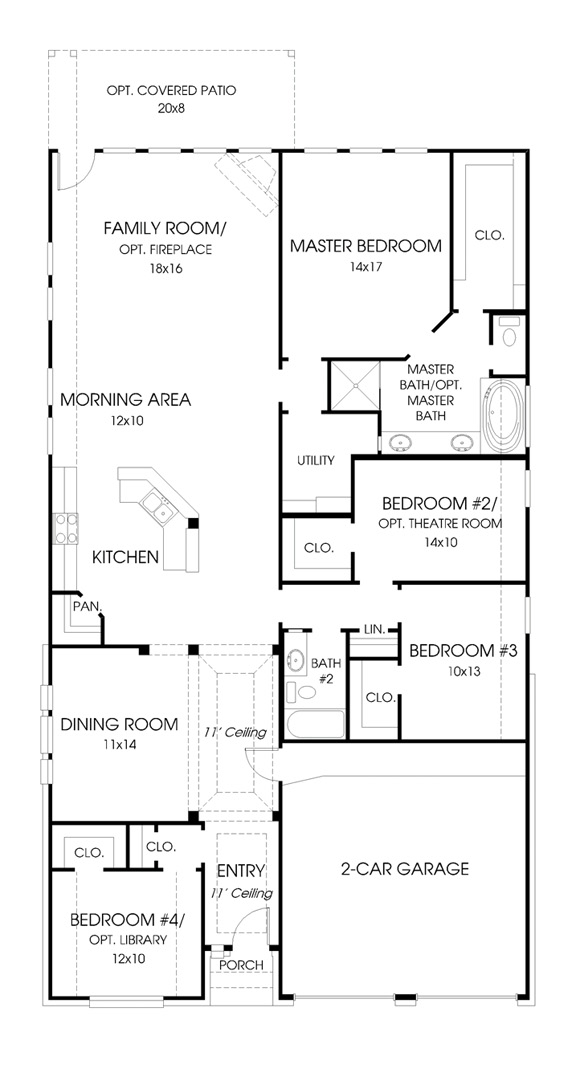 Canyon Falls Perry Homes Design 2301w Floor Plan