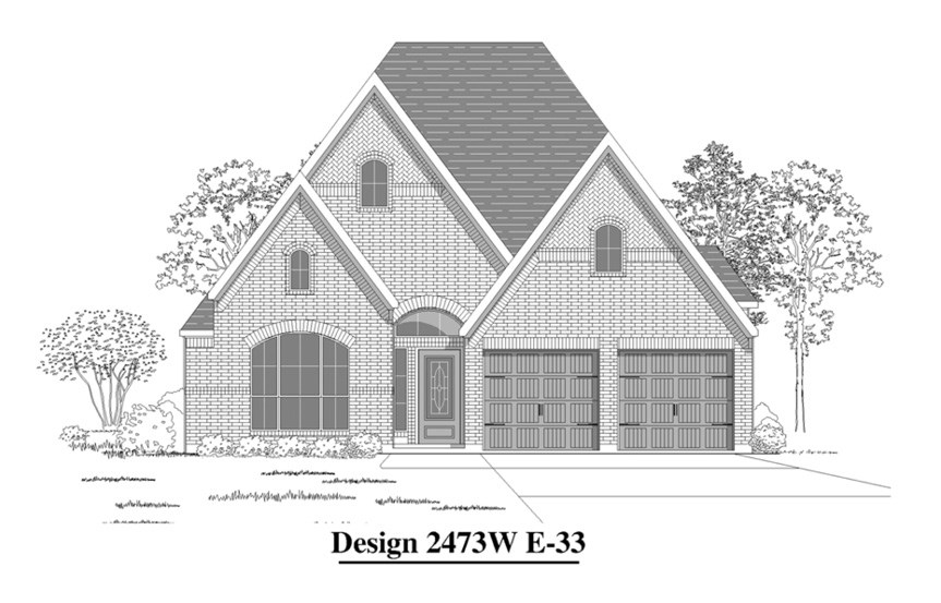 Canyon Falls Perry Homes Design 2301w Elevation E-33