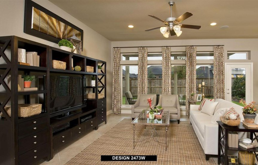 Canyon Falls Perry Homes Design 2473w Family Room