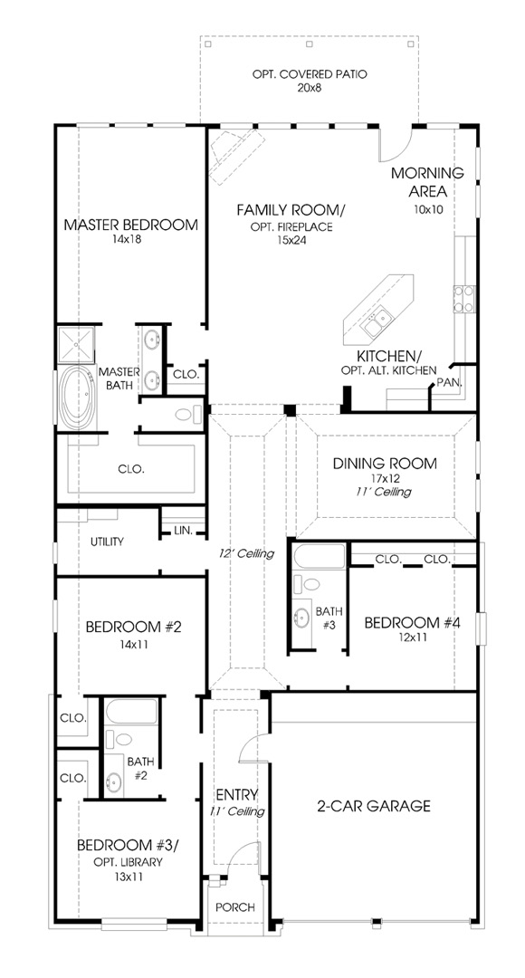 Canyon Falls Perry Homes Design 2473w Floor Plan
