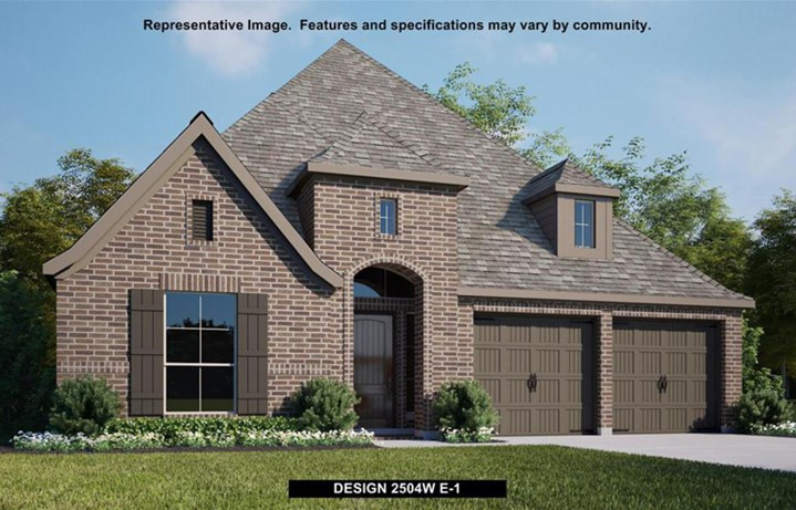 Canyon Falls Perry Homes Design 2504w Elevation E-1