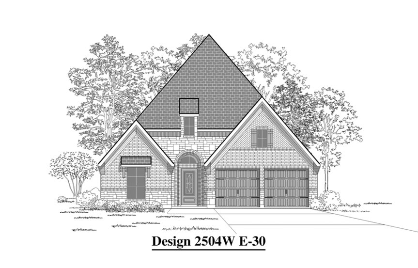 Canyon Falls Perry Homes Design 2504w Elevation E-30