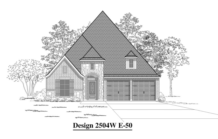 Canyon Falls Perry Homes Design 2504w Elevation E-50
