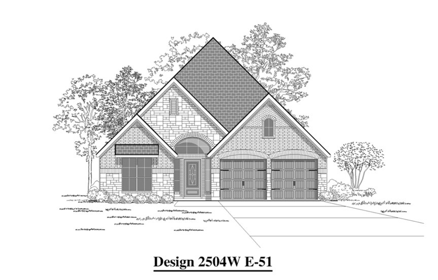 Canyon Falls Perry Homes Design 2504w Elevation E-51