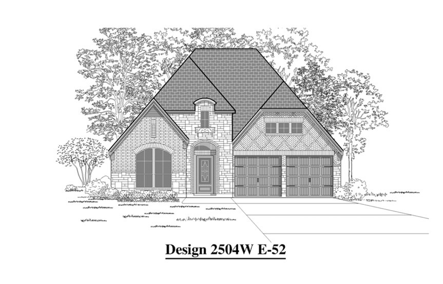 Canyon Falls Perry Homes Design 2504w Elevation E-52